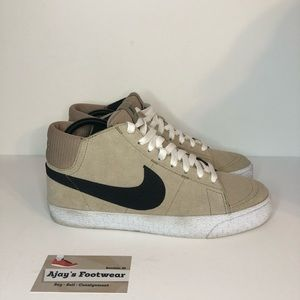 Nike Blazer Mid LR Men's Skate Beige Tan Shoes